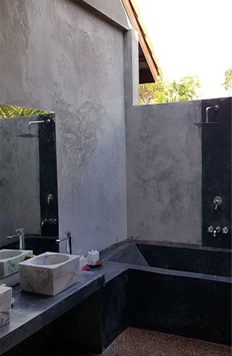 open air bathroom