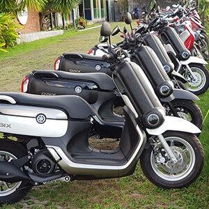 ride scooter at Koh Lanta