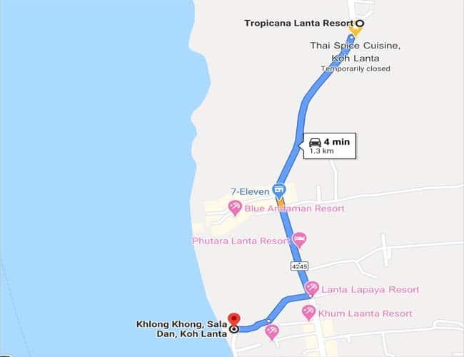 Resort to Klong Kong beach