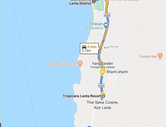 Tropicana Lanta to long beach